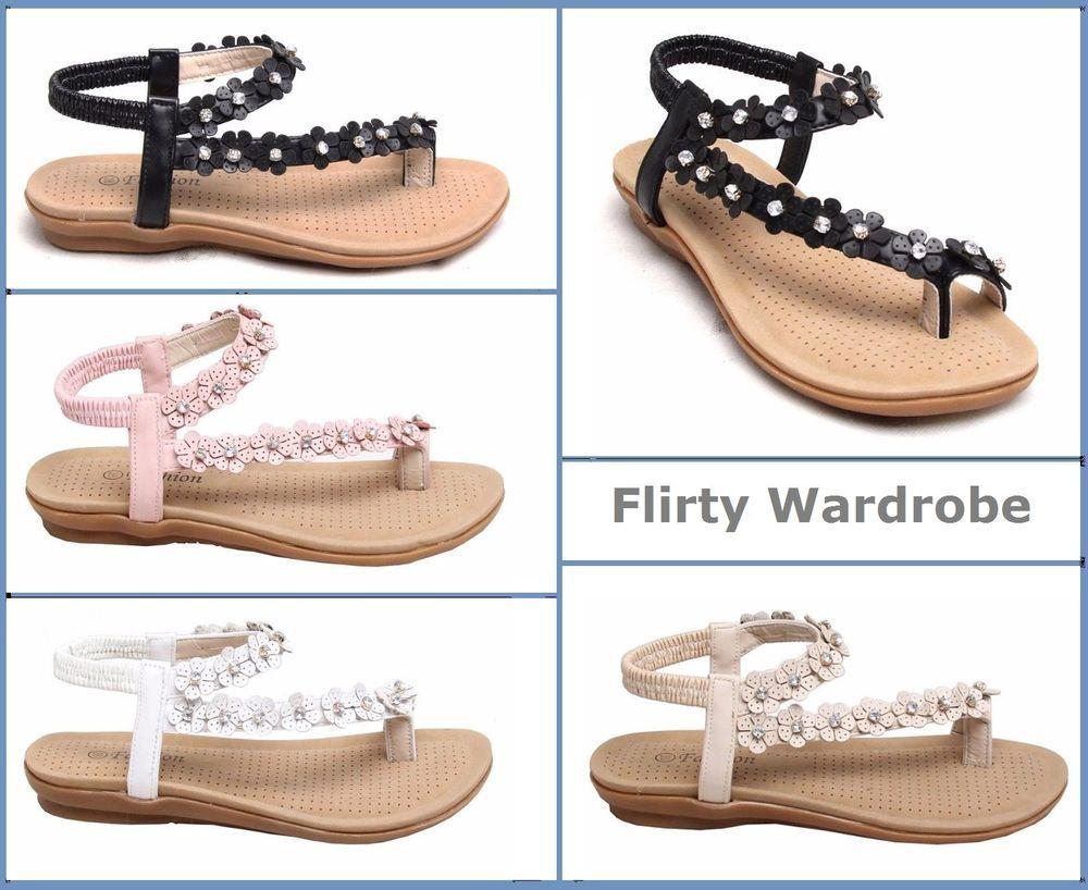 #Womens #Flats Ladies #Floral Strappy #Diamante #Fashion Ankle #Flat #Sandals #ToePost     http://cgi.ebay.co.uk/ws/eBayISAPI.dll?ViewItem&item=371954569097&roken=cUgayN&soutkn=l64UU7 @eBay