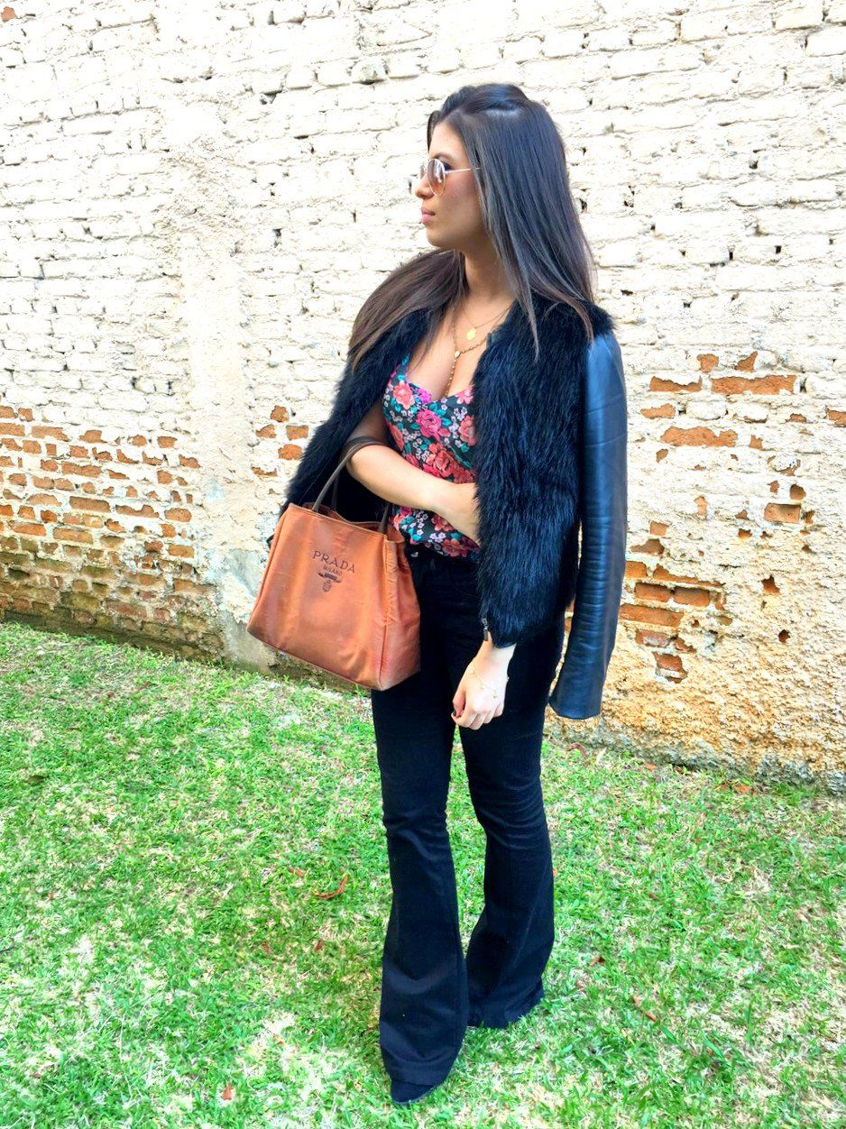 look do dia, blog as gavas, casaco de pelo, calça flare, stéphanie gava, look para o dia arrumado, faculdade, look para o frio, look of the day