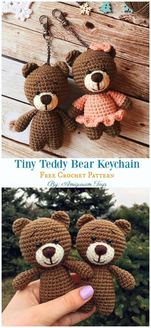 Free Amigurumi Bear Toy Softies Crochet Patterns #bear