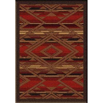 Western Rugs Santa Fe Spirit 4x6 Accent Rug Saddleback Western Rustic Rugs Cabin Rugs Western Rugs