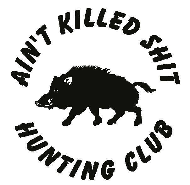 HUNTING CLUB HUNT Hog Pig Boar Hunter Funny Car Truck Decal Vinyl - Trucks with hunting decals