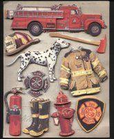 Firefighter Scrapbook Stickers