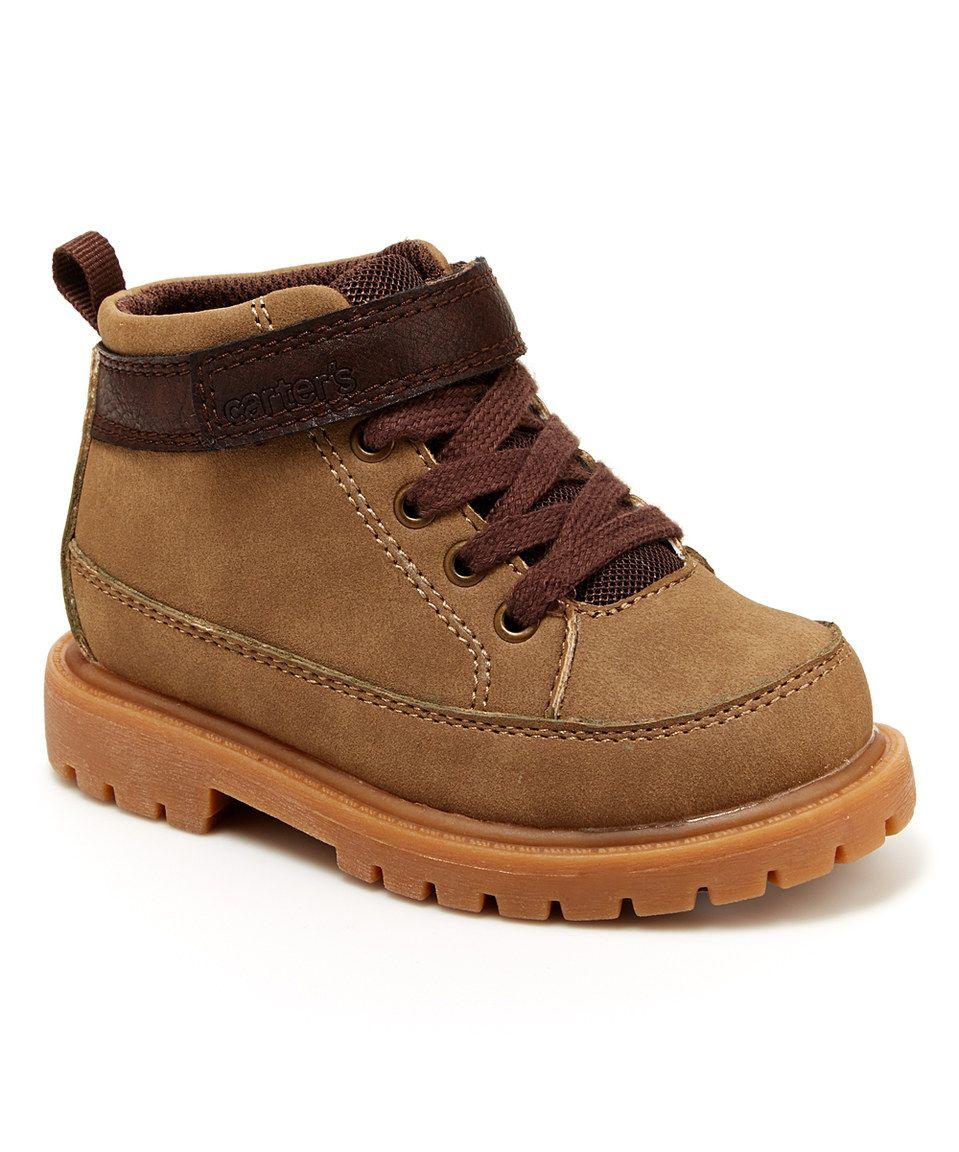 Look at this #zulilyfind! Carter's Khaki & Brown Ronald Boot by Carter's #zulilyfinds