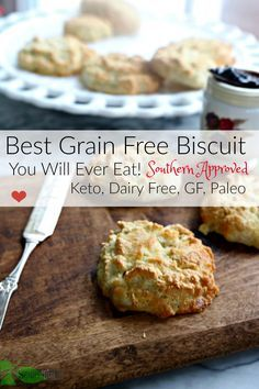 Tested nine batches to get Southern Fluffy Grain Free Biscuits, made with almond flour, coconut flour. Paleo. Keto. Low Carb.