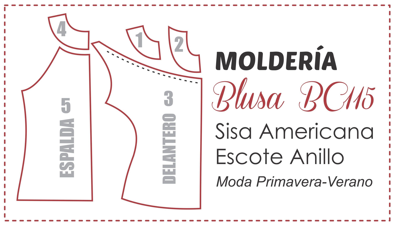 Blusa BC115 Trazado del Patrón de Costura | PATRONES | Pinterest ...
