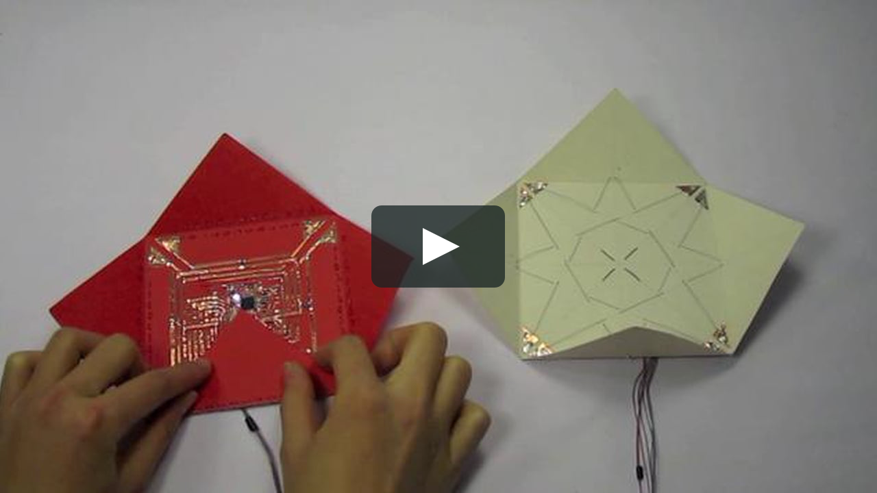 Electronic Origami Input Output Blintz Folding Origami Paper Circuits Red Paper