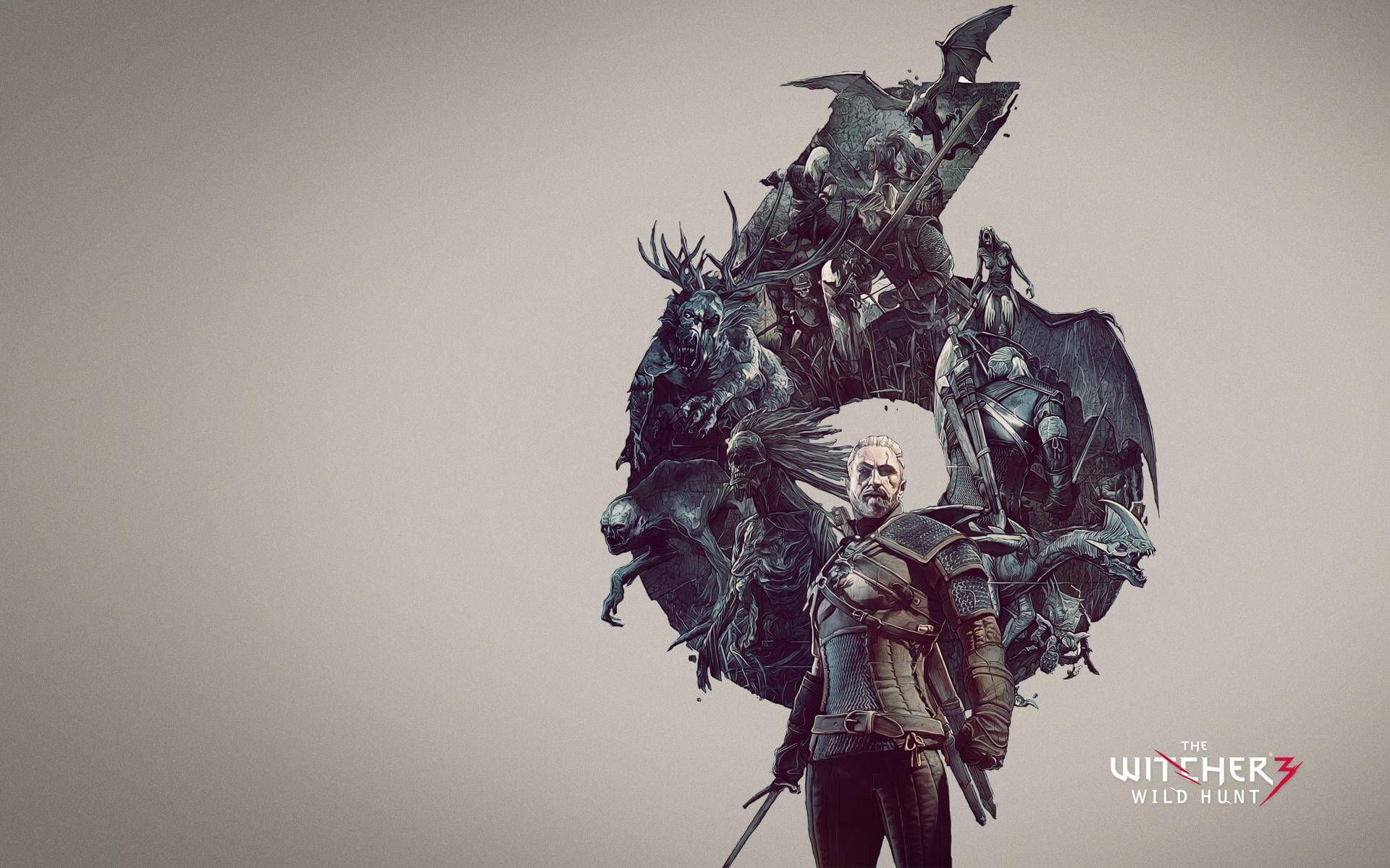 Download Geralt Swords the Witcher Wild Hunt Wallpaper x