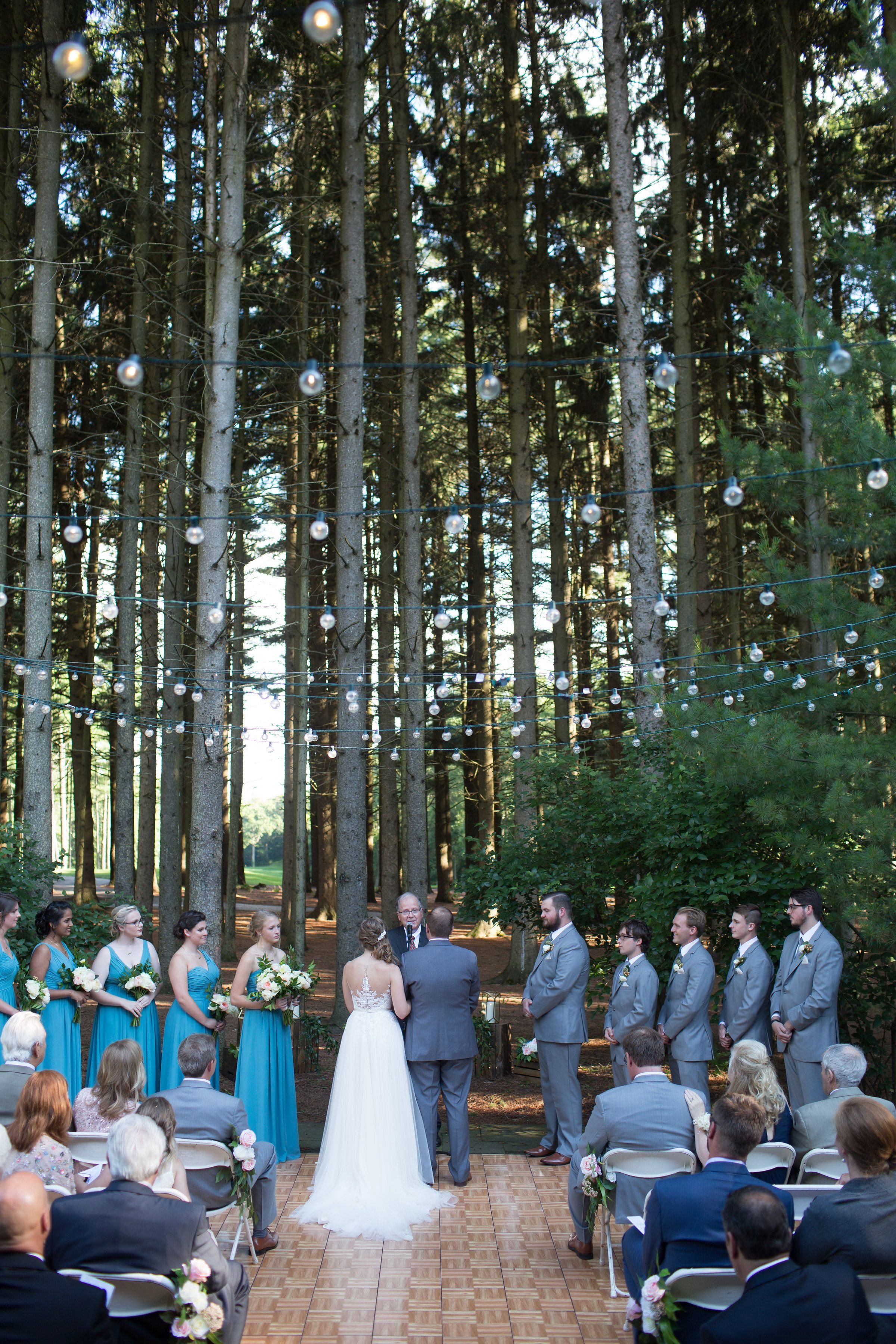 Gorgeous July Wedding Ceremony Underneath The Pine Trees At Shepherd's Hollow Golf Club Venue And Reception Space In Clarkston Michigan: Cu New York Wedding Venue At Reisefeber.org