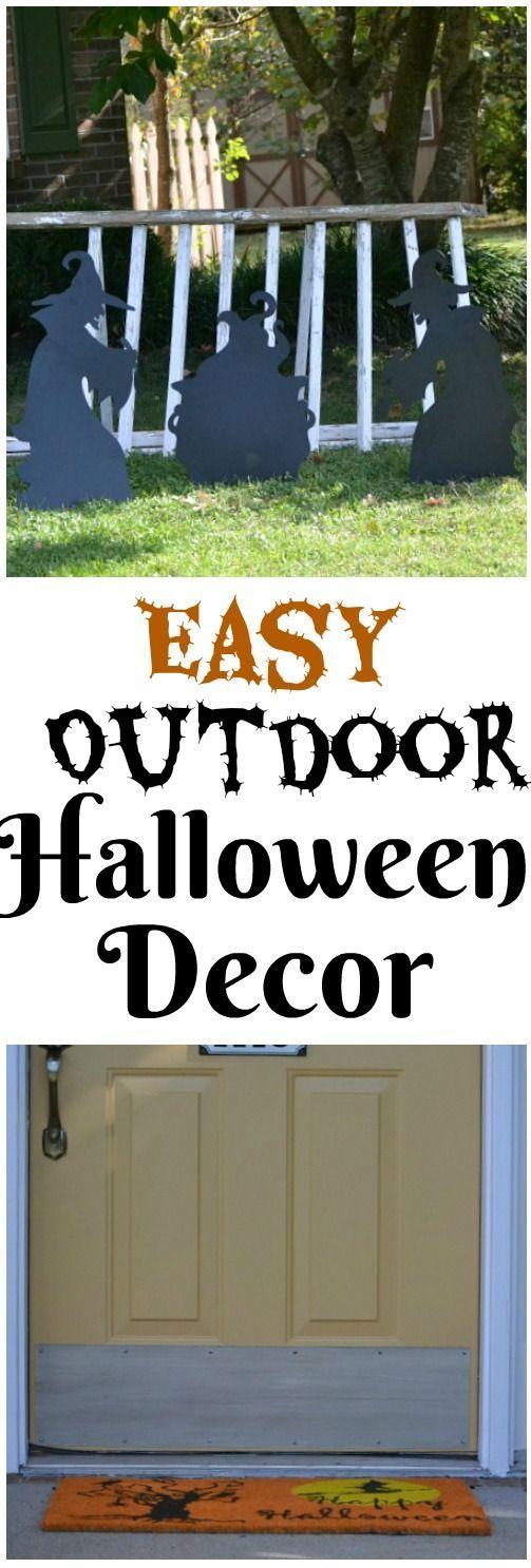 Easy Outdoor Halloween Decor Fabulous Halloween Ideas Pinterest - halloween decorations on pinterest