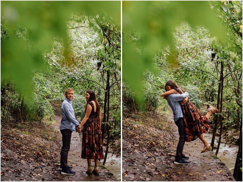 Chattanooga Engagement Photos | K&K #cuteumbrellas