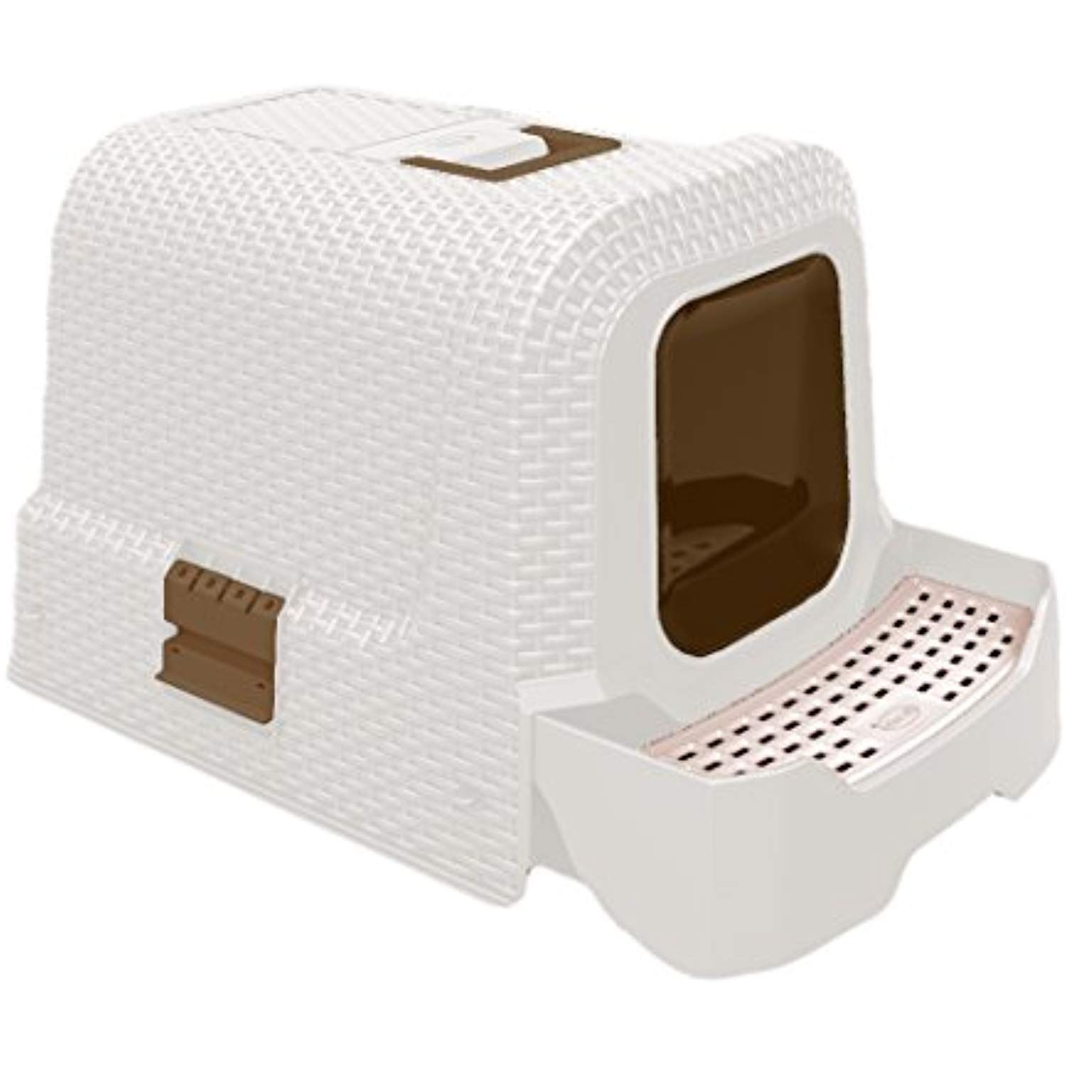 Deluxe Covered Litter Box With Removable Tray Scoop And Bags To View Further For This Item Visit The Image Link Thi Litter Box White Wicker Litter Tray