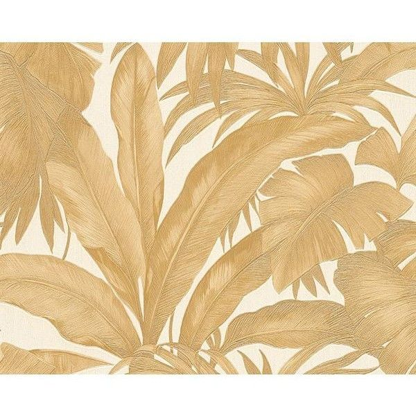 Versace Home Palm Leaves Wallpaper (161 CAD) ❤ liked on Polyvore ...