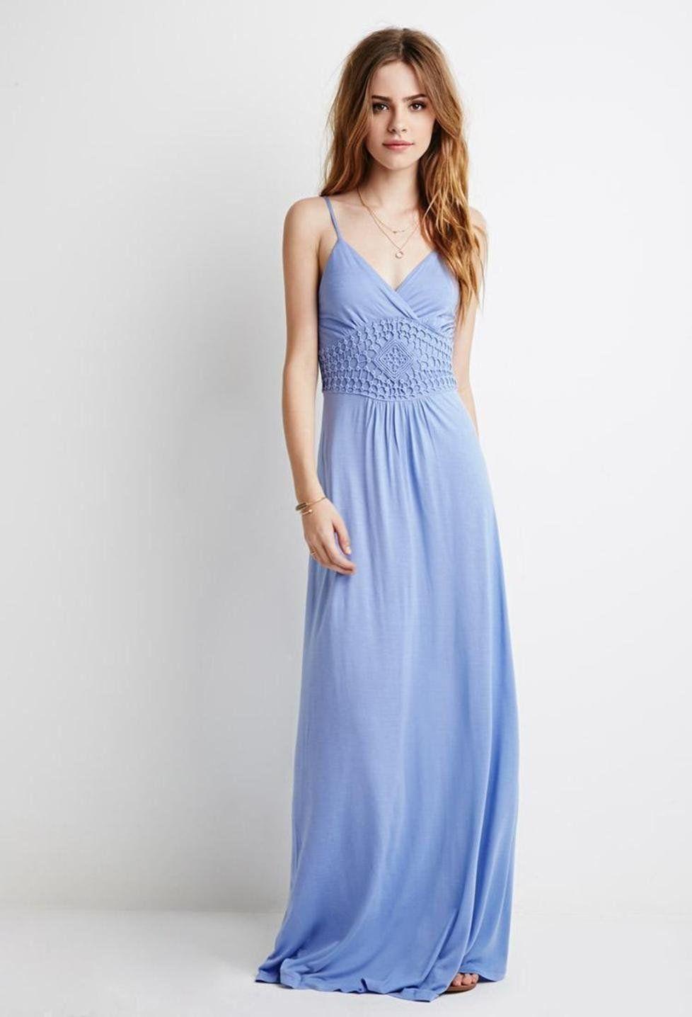 Crochet Paneled Surplice Maxi Dress Inner Beauty Dresses