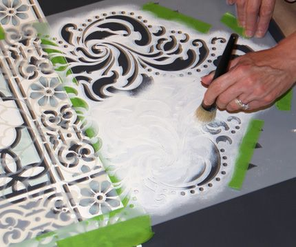 Melanie Royals shows how to DIY stencil floorcloths with Chalk Paint and complementary stencils. This easy project makes a large-scale impact on any room.
