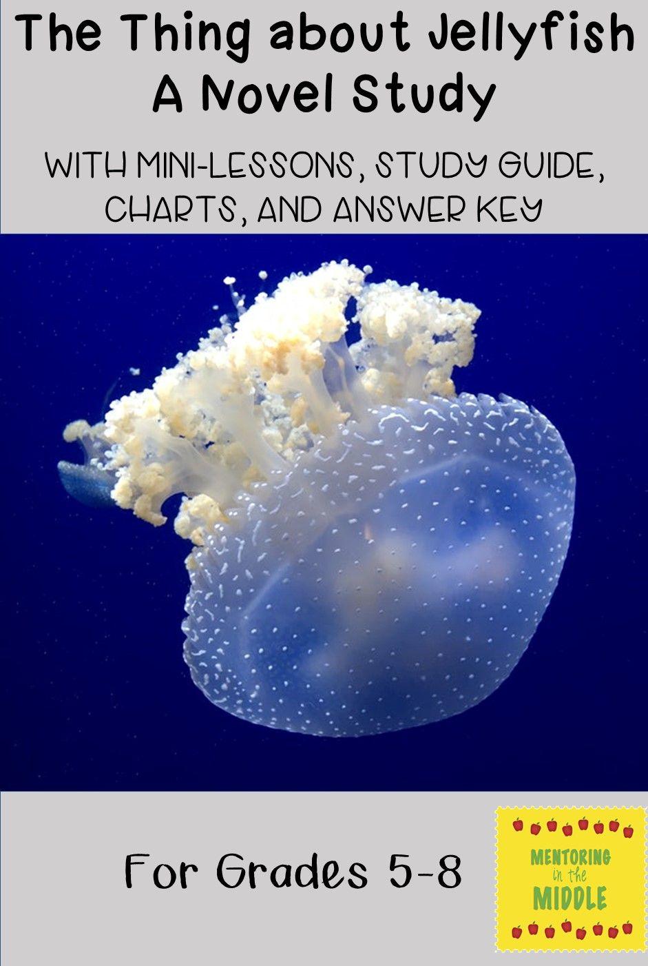 the thing about jellyfish novel unit study guide teacher lesson rh pinterest com Marine Invertebrates List Marine Invertebrate Genera