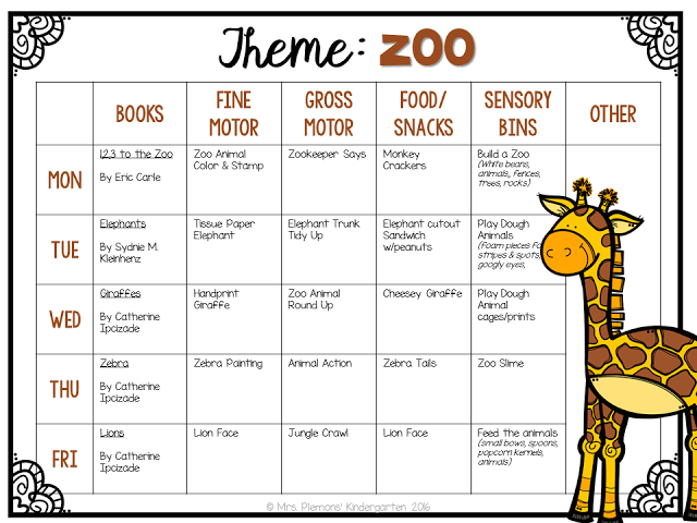 Tot School Zoo Lesson plans for toddlers, Preschool