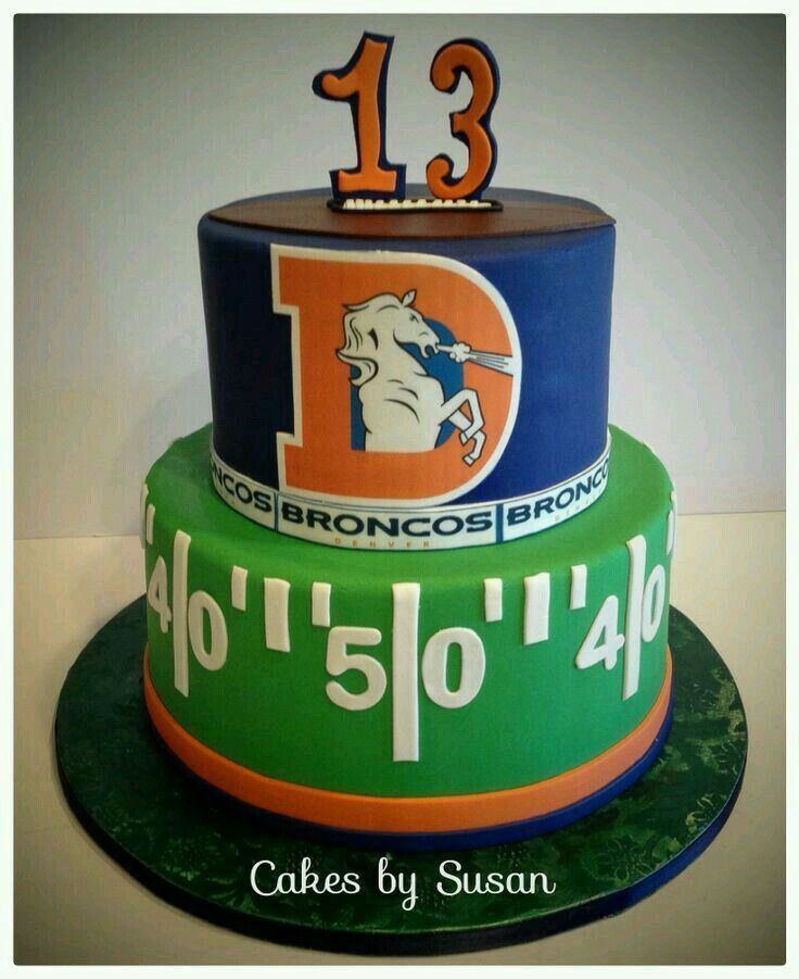 Pin By Tonisa Dela Riva On Denver Broncos Cake And Cupcakes