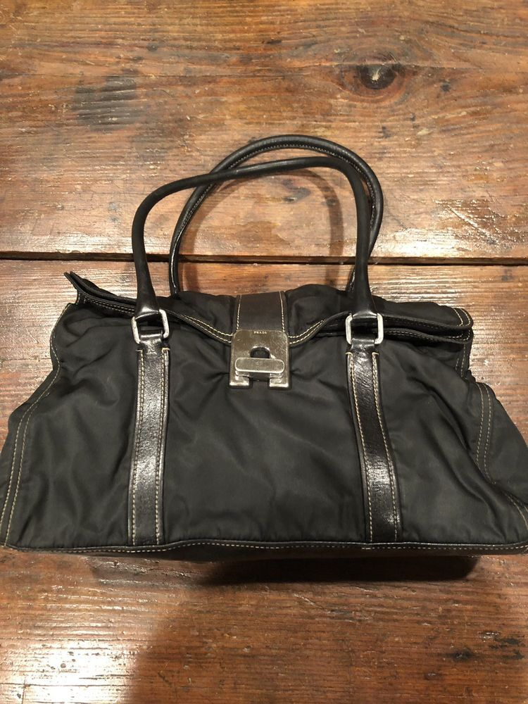 Prada Nylon Shoulder Bag Handbag Purse GUC  fashion  clothing  shoes   accessories   79701eacc2