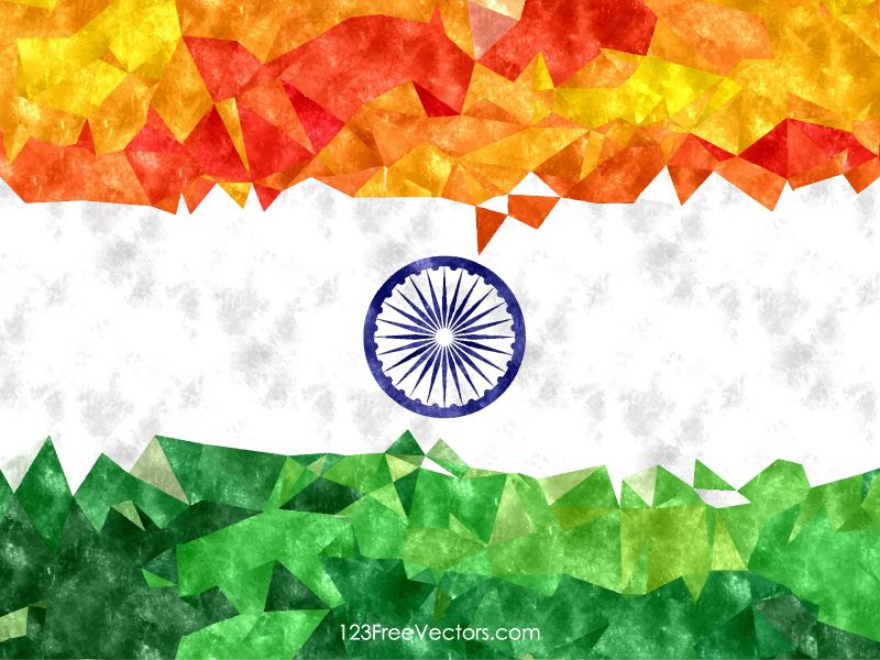 Indian Flag Watercolor Background Vector Watercolor Background Indian Flag Flag Background