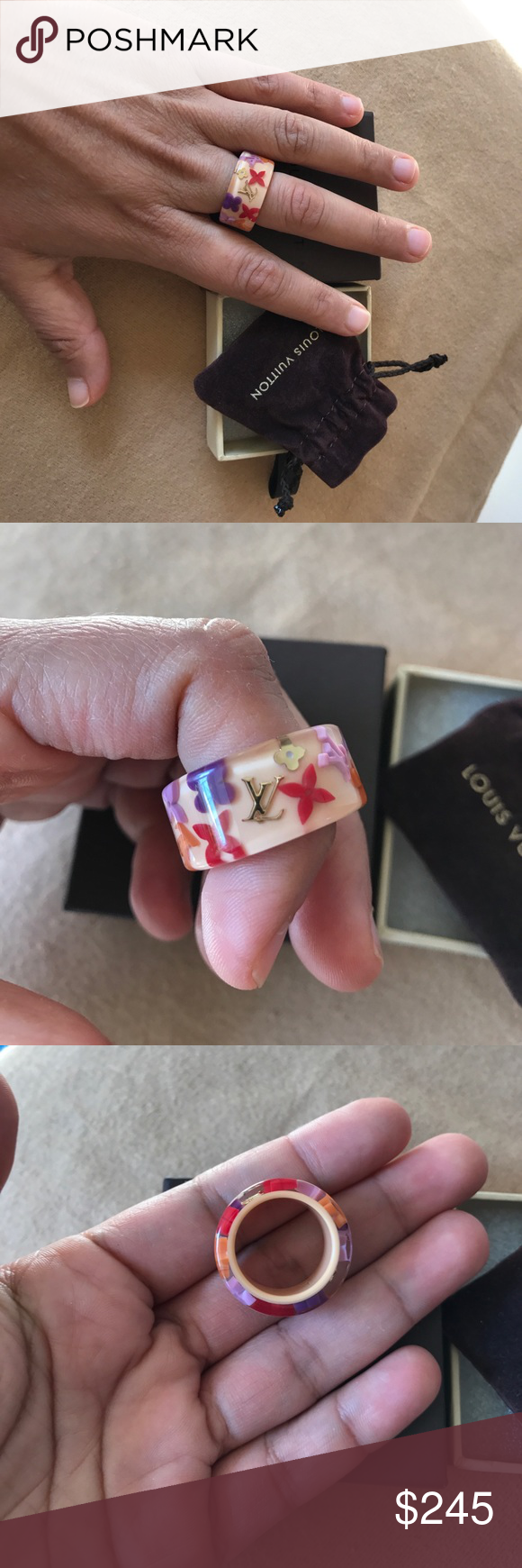 Louis Vuitton Ring. Authentic Size L In beautiful ...
