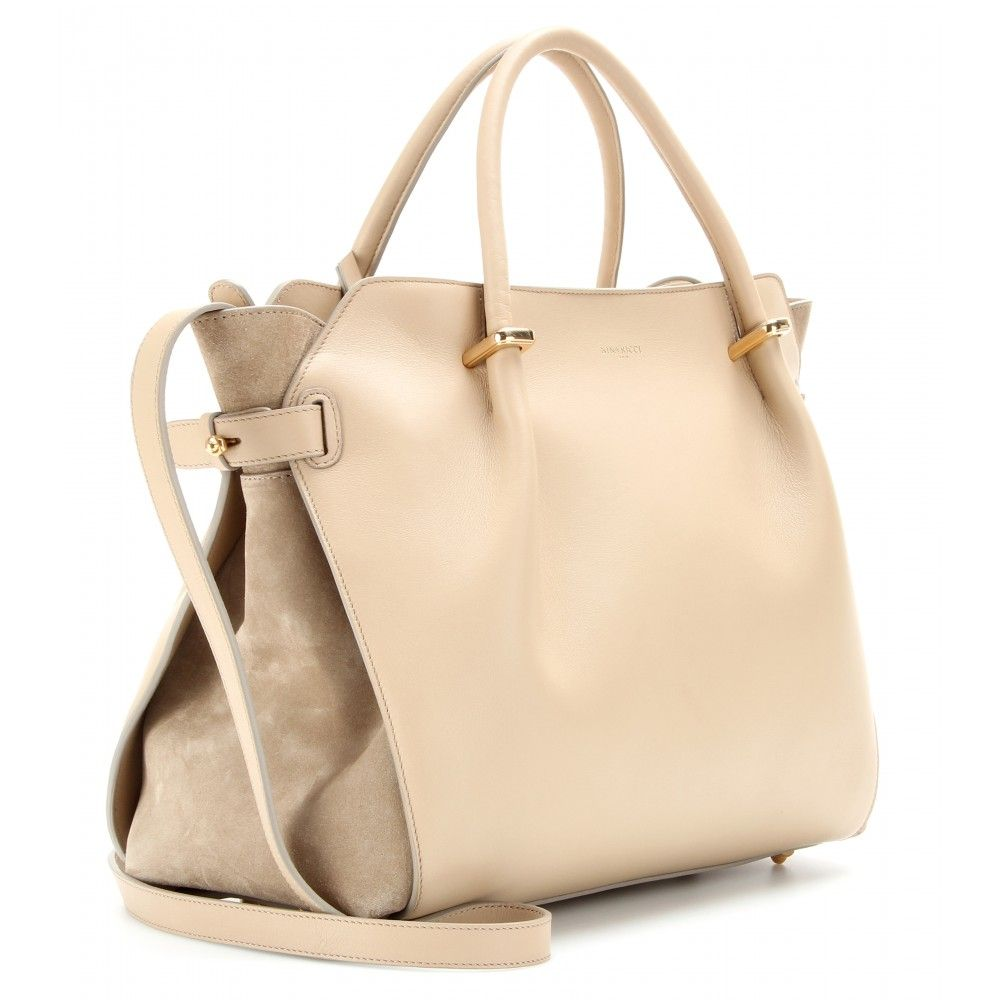 Nina Ricci - Marché Leather Shoulder Bag in Sandy Beige ...