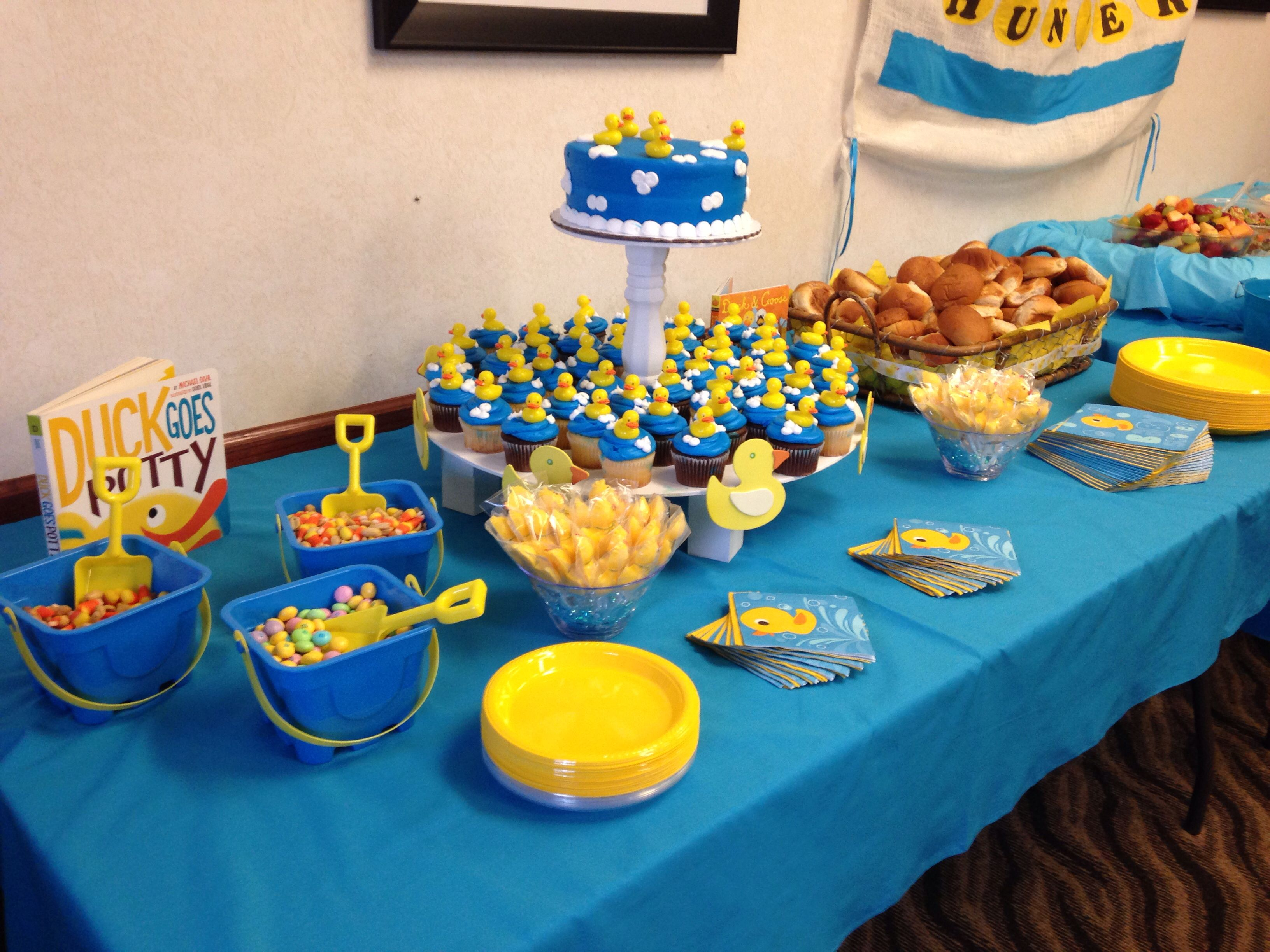 Superior Boy Baby Showers · Rubber Ducky Cupcakes Were Purchased At Walmart And They  Were Great I Used Kids Sand Buckets