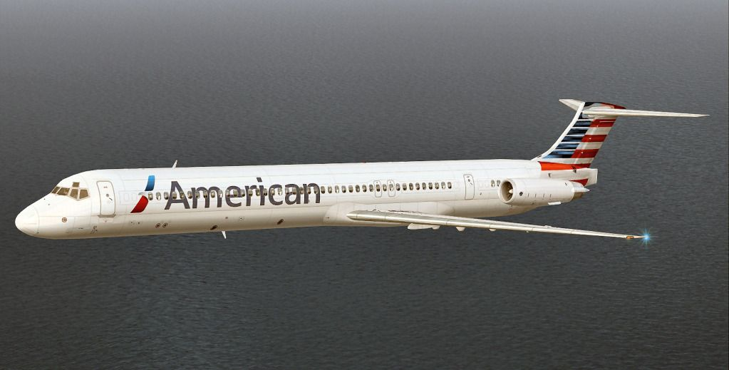 New Paint Job on the MD 80 (American Airlines) that my