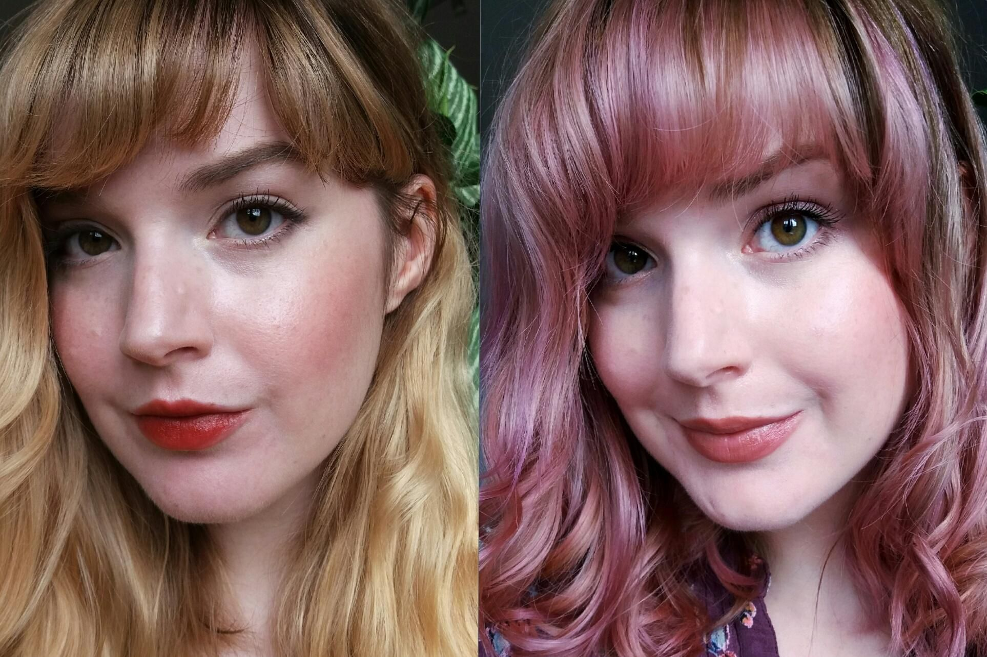 Rosey Mauve With Diluted La Riche Directions Plum And Carnation Pink Over Warm Blonde Http Ift Tt 2j7pyct Warm Blonde Hair Heaven Pink Hair
