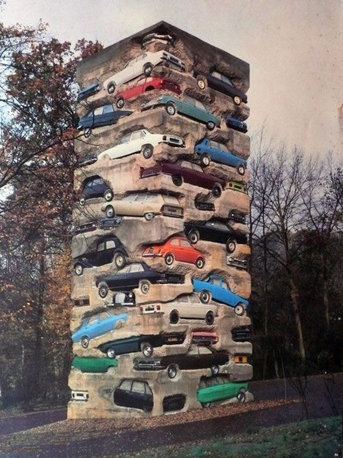 Car art, well this might be hard to find a spot for in the garden!!!