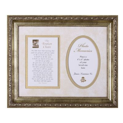 The James Lawrence Company Broken Chain Framed Textual Art | Products