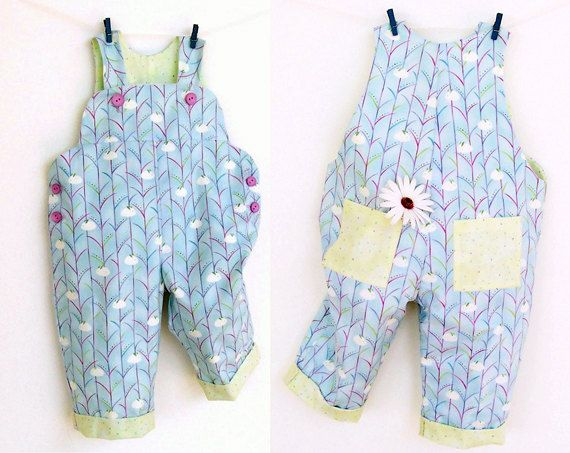 Sweet Comfy Romper pattern sewing, Overall, Dungaree, PDF Easy, children babies toddler, Baby Girl Boy 6 9 12 18 m 2 yrs INSTANT DOWNLOAD