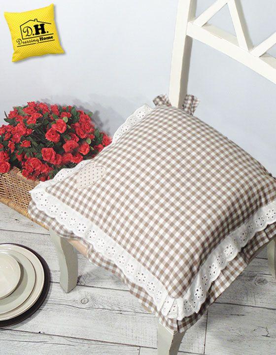 Il romantico cuscino per sedia Country Chic con un cuore ed