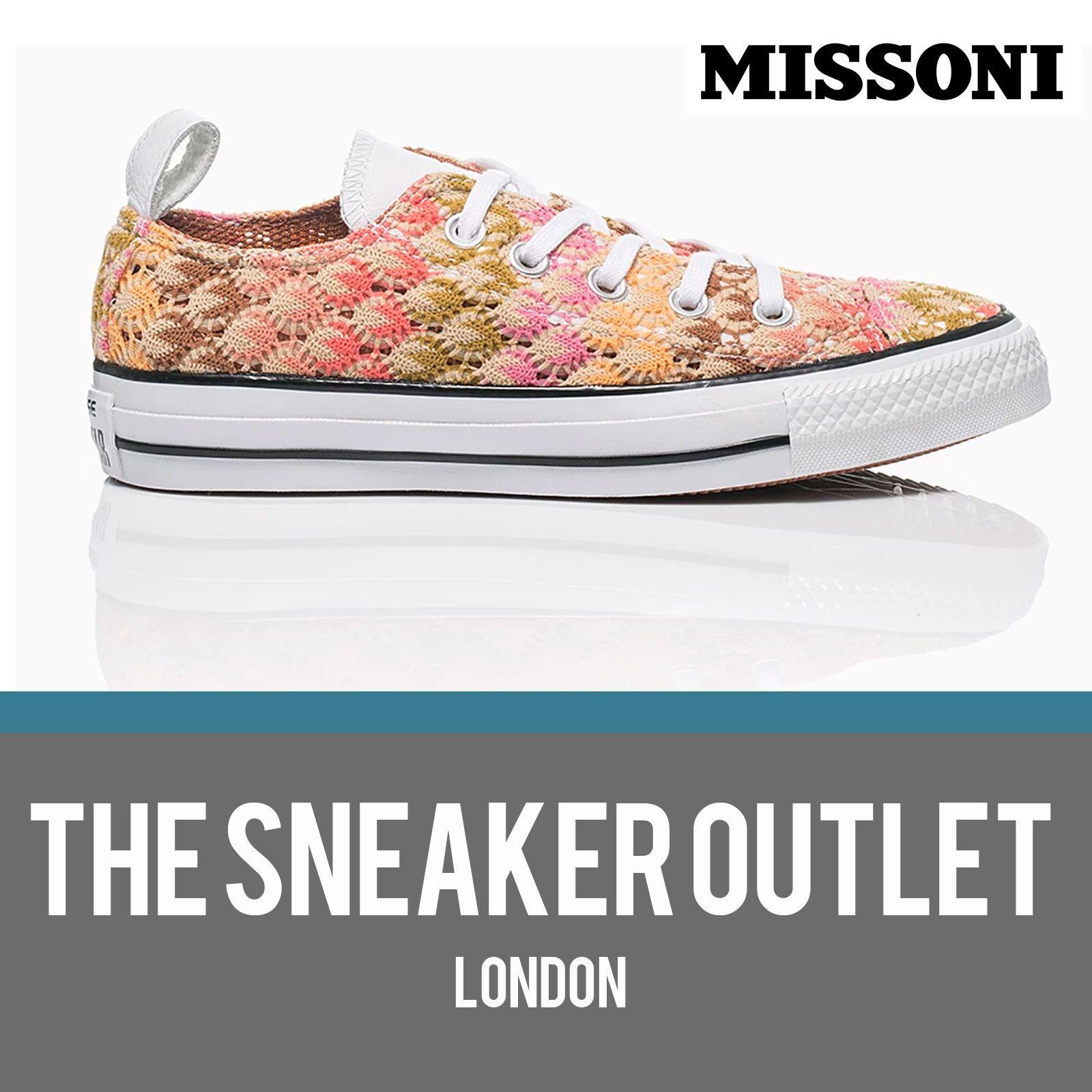 841e38894d0c New Womens Converse Chuck Taylor Missoni OX Crochet Trainers UK Size 5 - 7