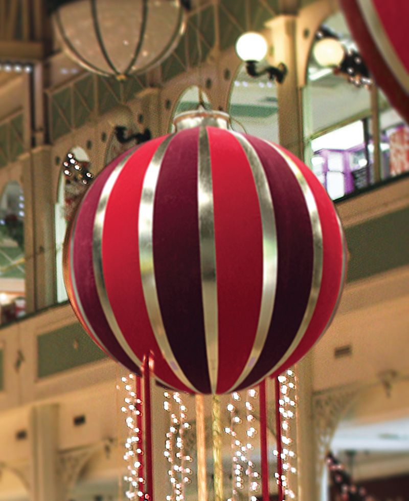 """60"""" Huge Red and Gold Inflatable Christmas Ornament ..."""