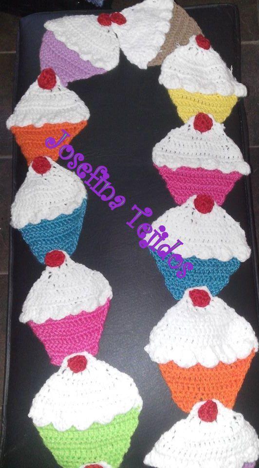 bufanda de cupcackes