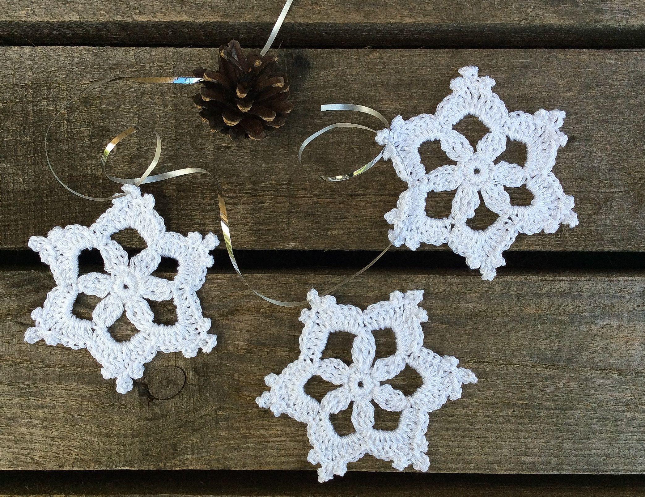 Crochet Pattern Dainty Snowflake Ornament Christmas Etsy In 2021 Crochet Christmas Snowflakes Crochet Flowers Easy Free Crochet Snowflake Patterns