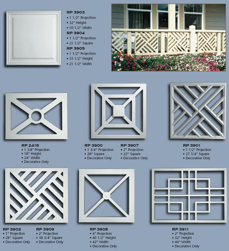 Balustrade panels for Porch balcony designs