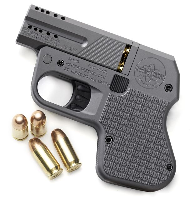 DoubleTap-pistol ML: Just 4 shots, but could save the day!! And extremely discreet. :)