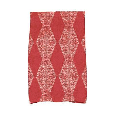e by design HH Revival Pyramid Stripe Geometric Print Hand Towel Color: