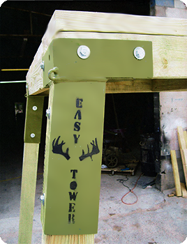 Easy Tower Brackets For The Box Blinds D Deer Hunting