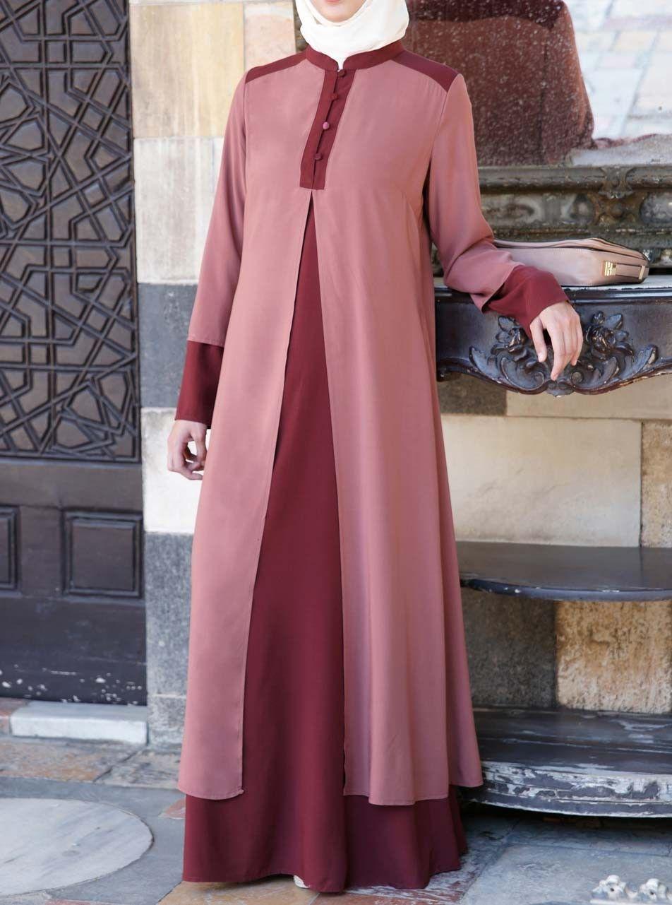 Double Layered Abaya   Pinterest