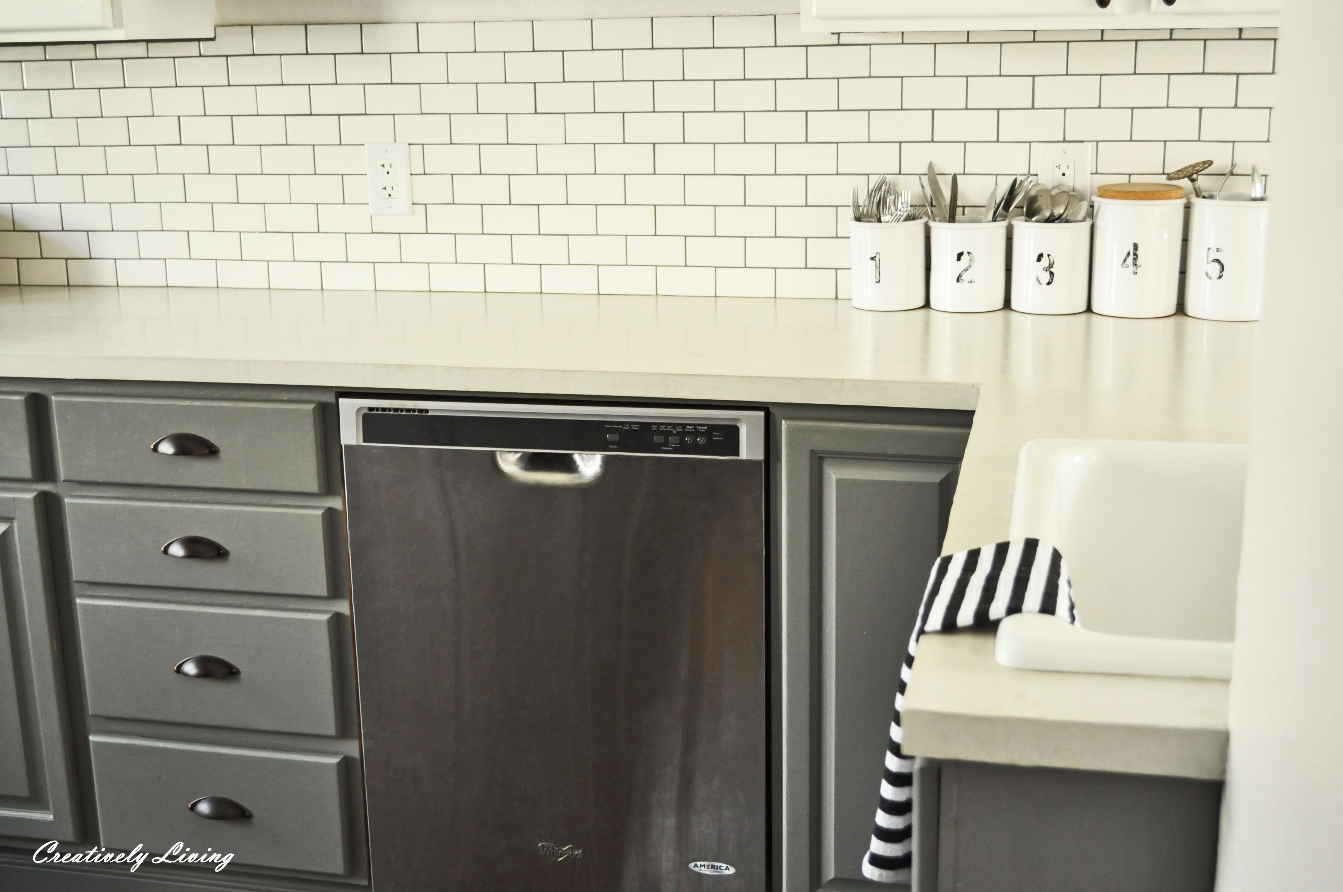 Cement Countertops With Ardex White