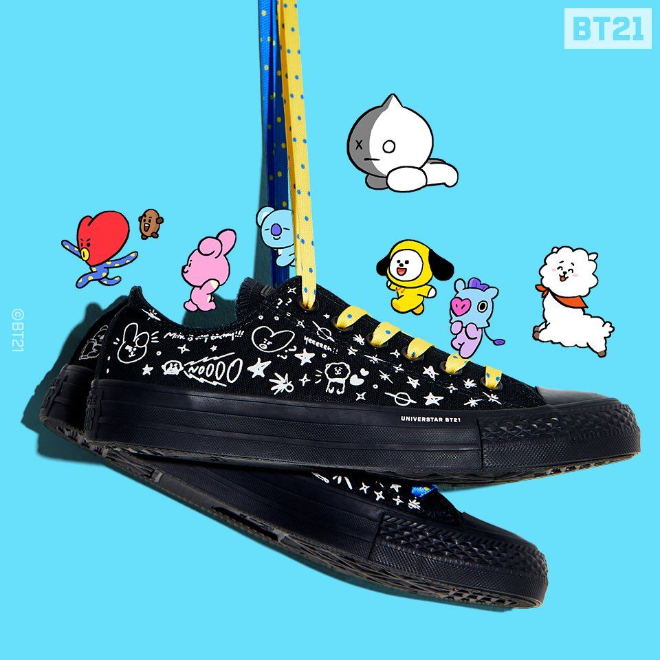 BT21 on in 2020 | Converse, Chuck taylors, Exclusive shoes