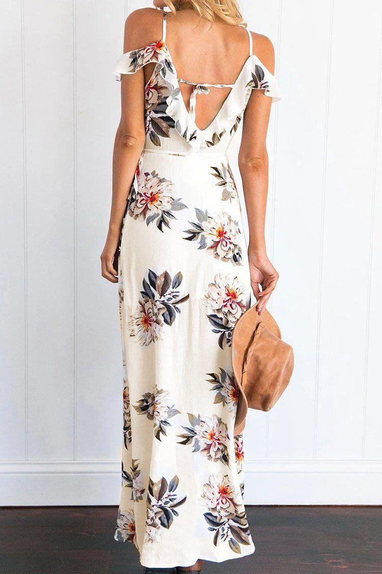 ee8d3ab3f3 Cupshe Blaze of Flowers Off Shoulder Dress   dresses   Floral ...