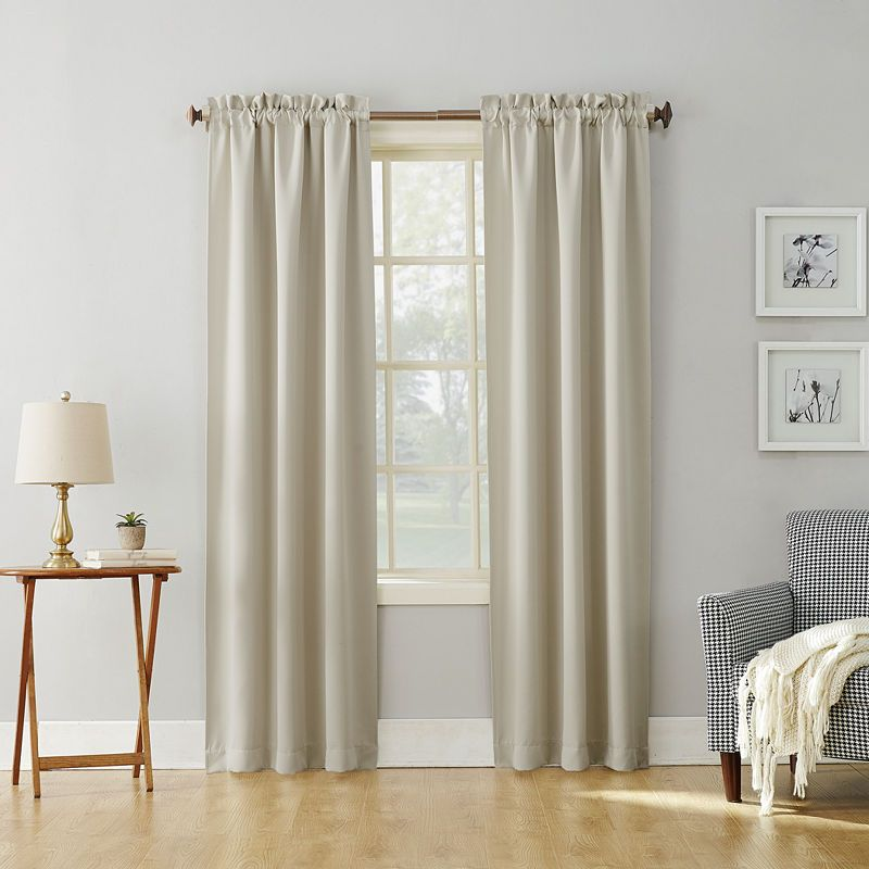 Sun Zero Evan Rod Pocket Blackout Rod-Pocket Curtain Panel