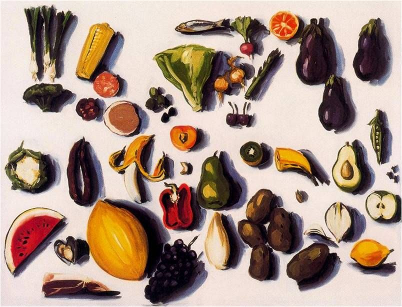 veggies & fruit Lisa Milroy Lisa milroy, Milroy