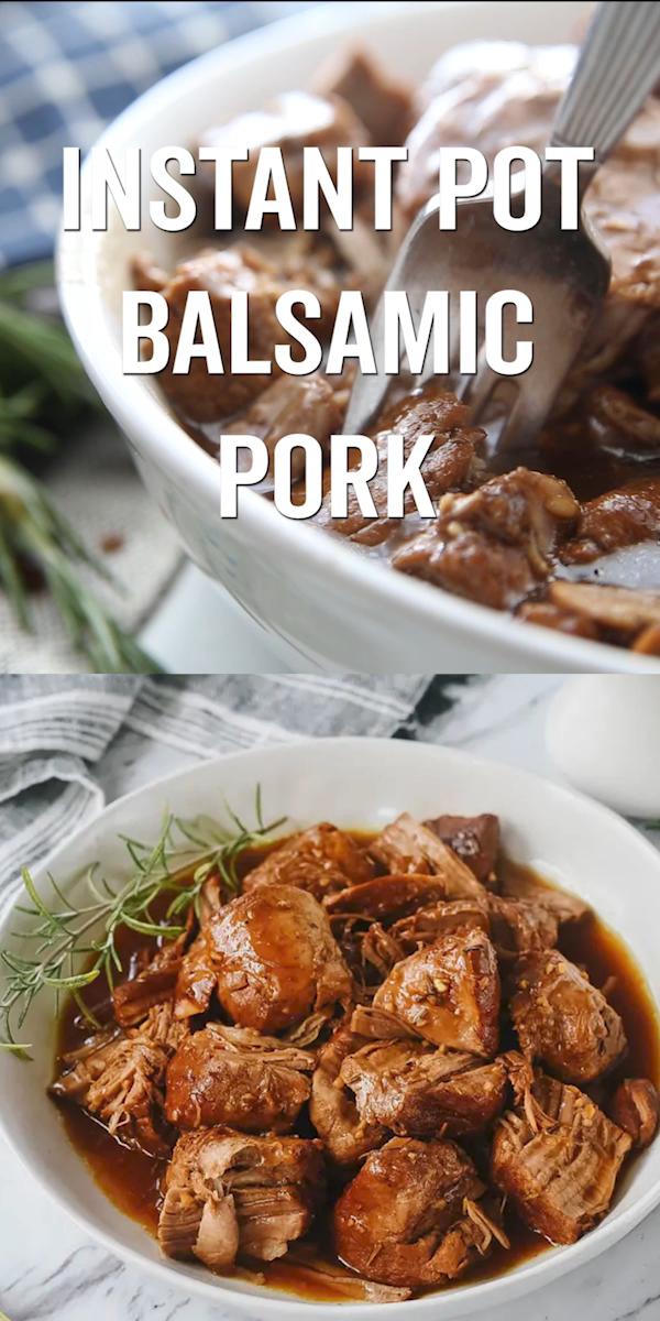 Instant Pot Balsamic Pork Tenderloin
