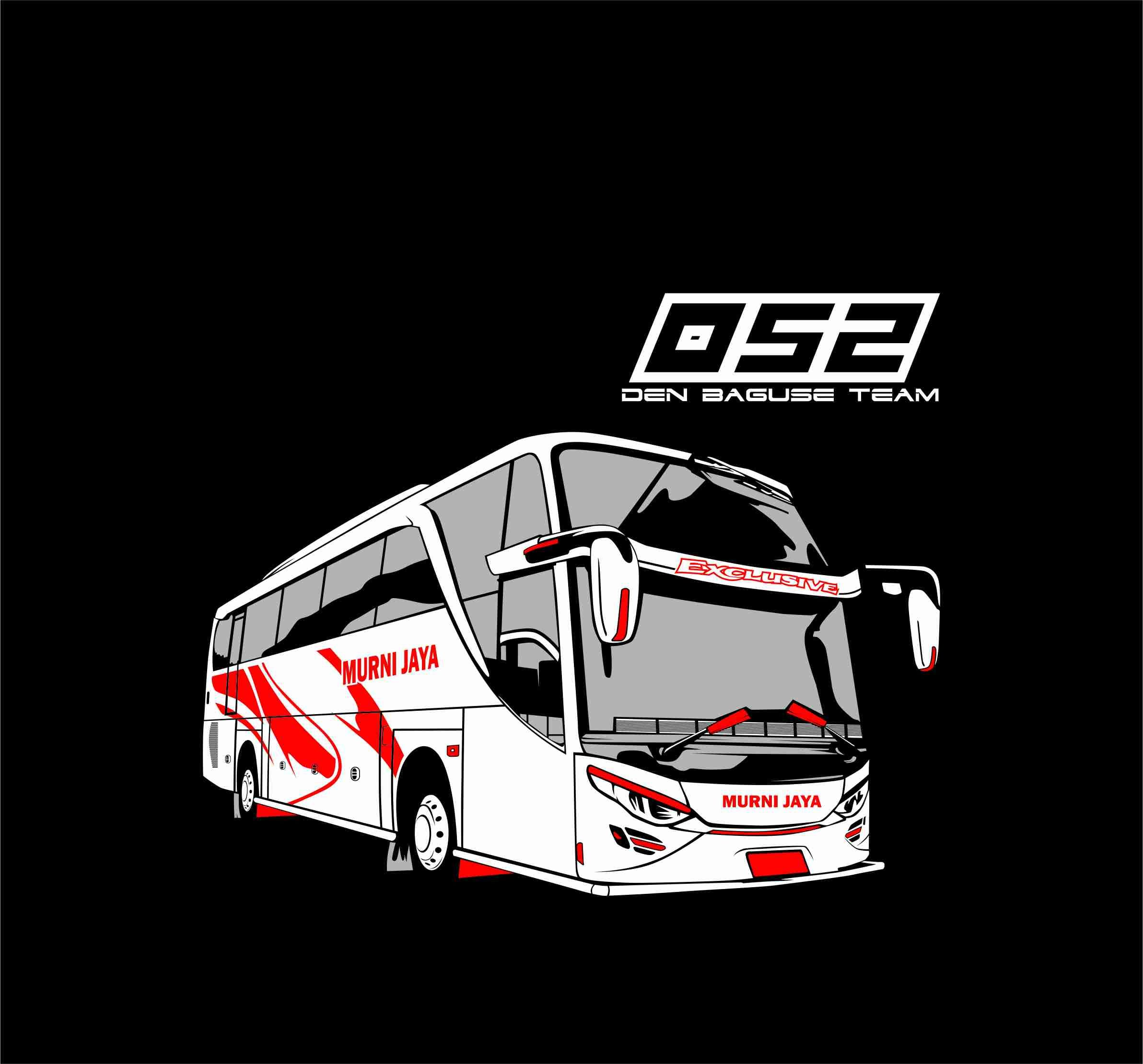 Bus Vector Desain Logo Otomotif Stiker Mobil Mobil