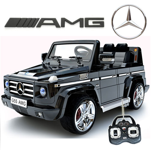 Magic Cars Seater Mercedes Remote Control Electric Ride On G55 Amg G Wagon For Kids W Leather Seat