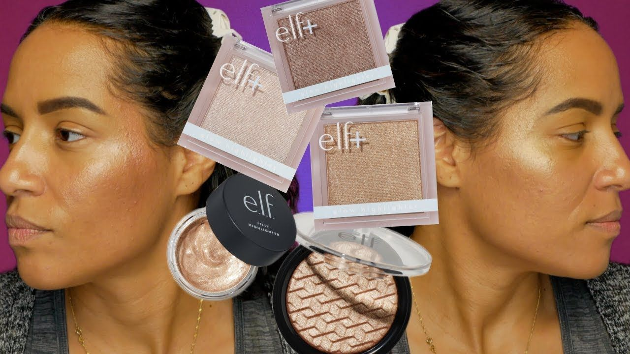 Testing New Makeup Elf + Coco Glow Highlighters + Elf New